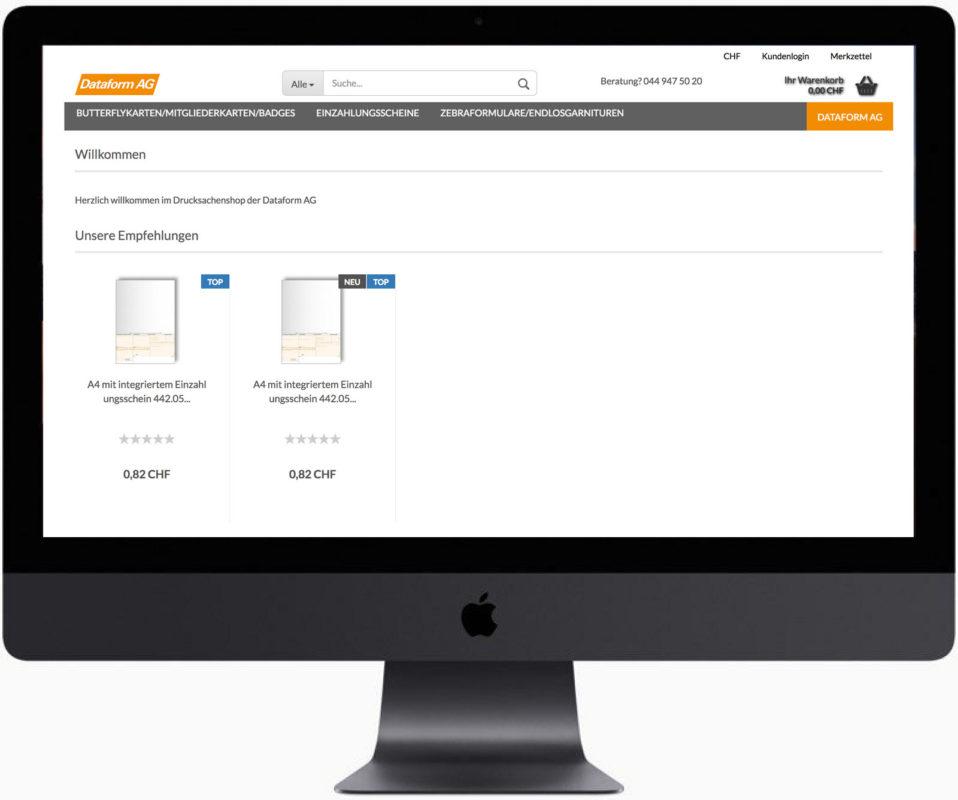Dataform AG | Onlineshop | Druckmaterial